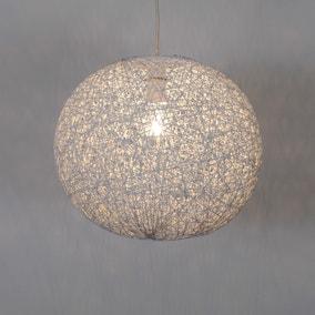 Abaca Ball 36cm White Easy Fit Pendant