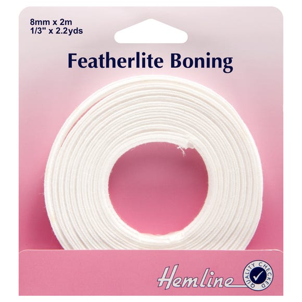 Hemline Featherlite Boning White