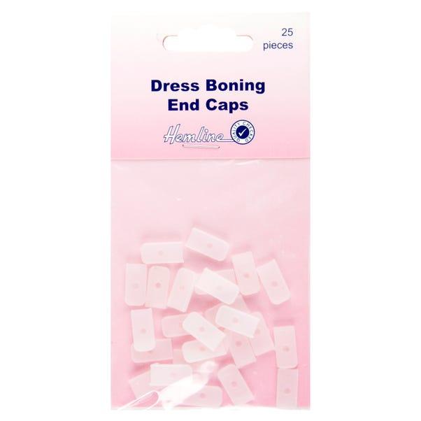 Hemline Dress Boning End Caps Clear