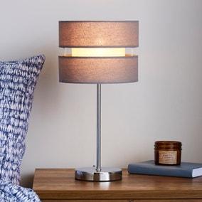 Frea Grey Table Lamp