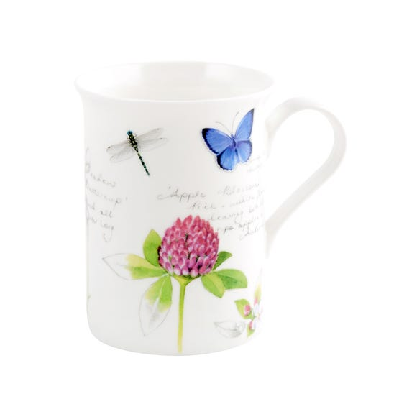 Flora and Fauna Flared Floral Mug White