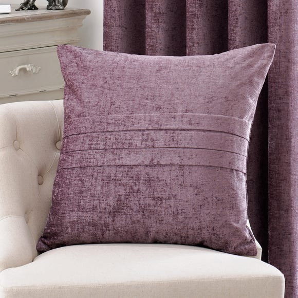 Large Chenille Mauve Cushion Mauve