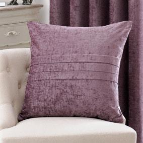Large Chenille Mauve Cushion