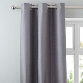 Nova Grey Blackout Eyelet Curtains