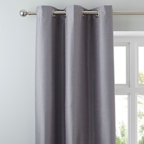 Nova Grey Blackout Eyelet Curtains