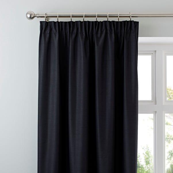 Nova Black Blackout Pencil Pleat Curtains  undefined