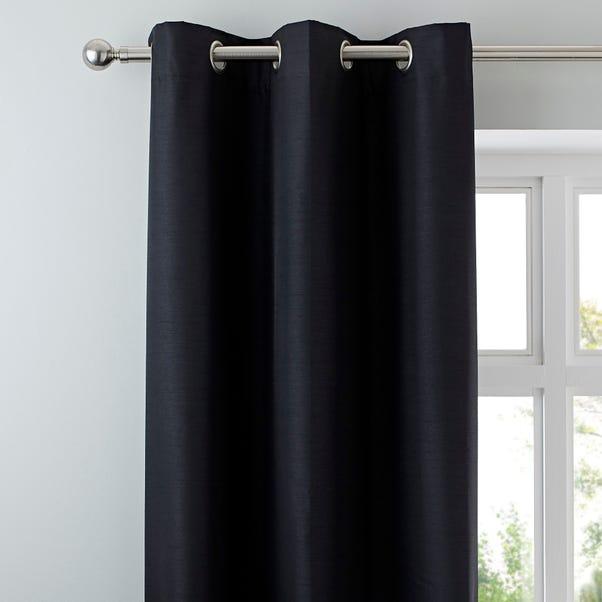 Nova Black Blackout Eyelet Curtains  undefined
