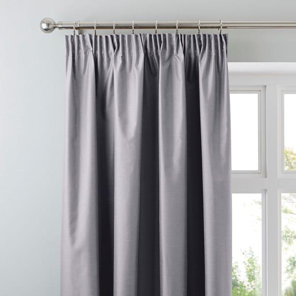 Nova Grey Blackout Pencil Pleat Curtains Grey undefined