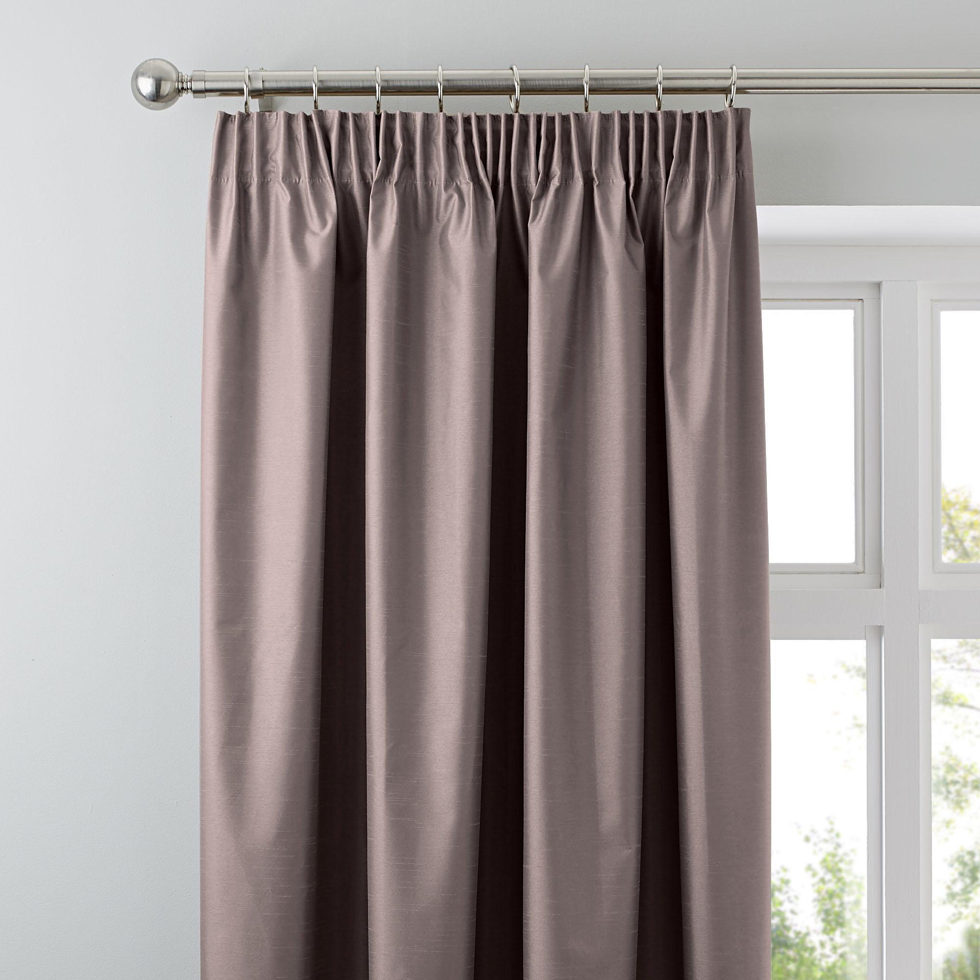 Photo of Nova gold blackout pencil pleat curtains copper brown