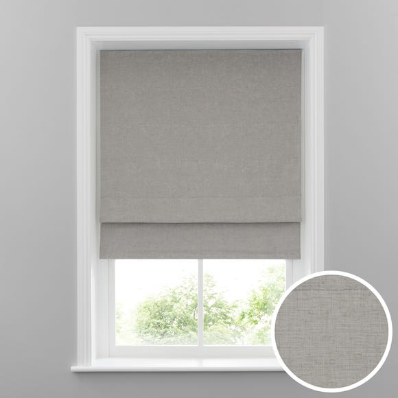 Cool Grey Linen Blackout Roman Blind Grey undefined