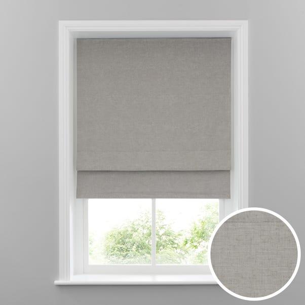 Cool Grey Linen Blackout Roman Blind  undefined