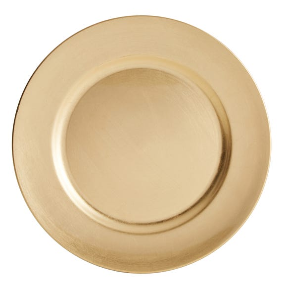 Plain Gold Charger Plate Gold