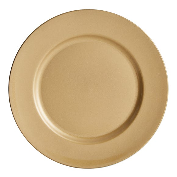 Gold Glitter Charger Plate Gold