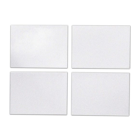 Pack Of Four Silver Glitter Placemats Silver