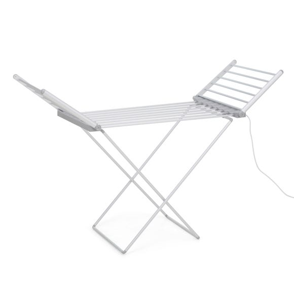 Heated Airer with Wings Grey