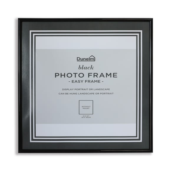 Easy Frame Record 12x12 Photo Frame Black