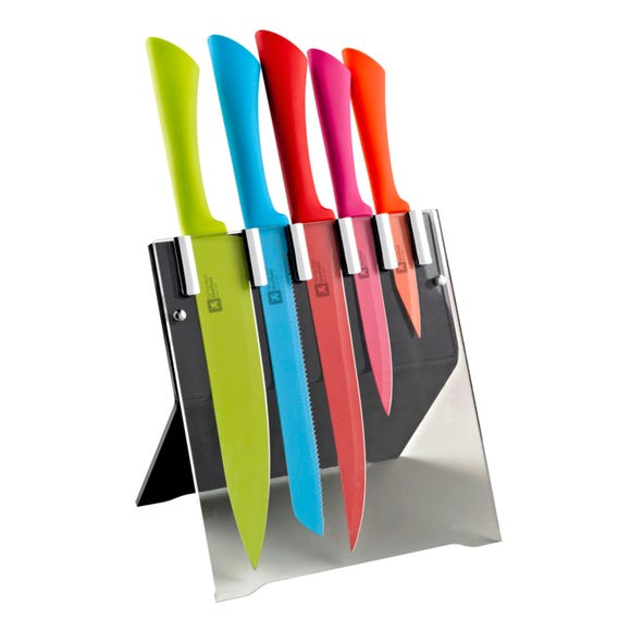 Richardson Sheffield Love Colour 5 Piece Knife Block MultiColoured