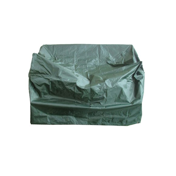 Heavy Duty 2 Seater Green Bench Cover Green