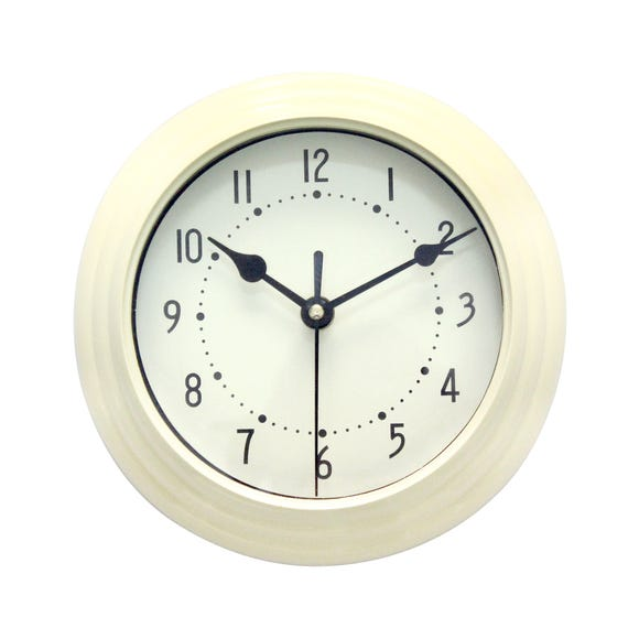 Mini Station 20cm Wall Clock Cream Cream
