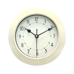 Mini Station 20cm Wall Clock Cream