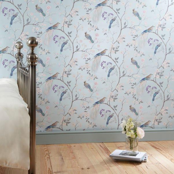 Dorma Maiya Duck-Egg Wallpaper Blue