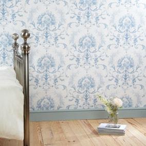 Dorma Blue Toile Wallpaper