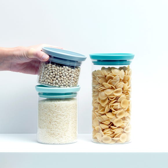 Brabantia Set of 3 Glass Jars Clear