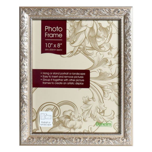 "Champagne Ornate Photo Frame 10"" x 8"" (25cm x 20cm) Champagne (Natural)"