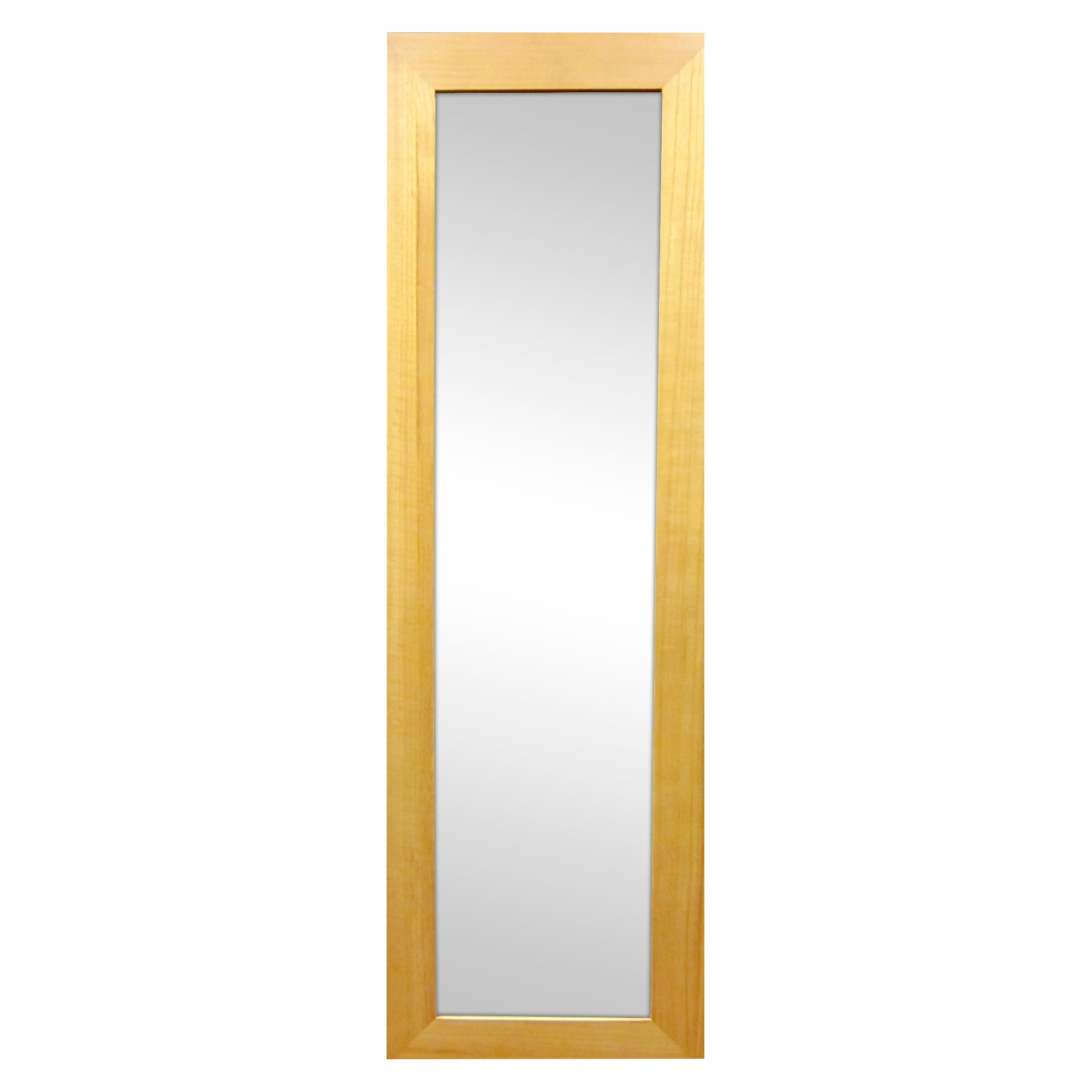 Click to view product details and reviews for Wooden Wall Mirror 130x40cm Natural Natural Brown.
