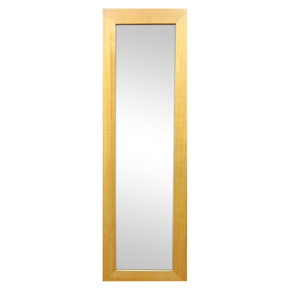 Wooden Wall Mirror Natural Natural (Brown) undefined