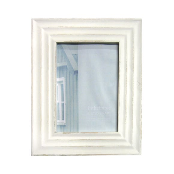 "Distressed Cream Photo Frame 10"" x 8"" (25cm x 20cm) Natural"