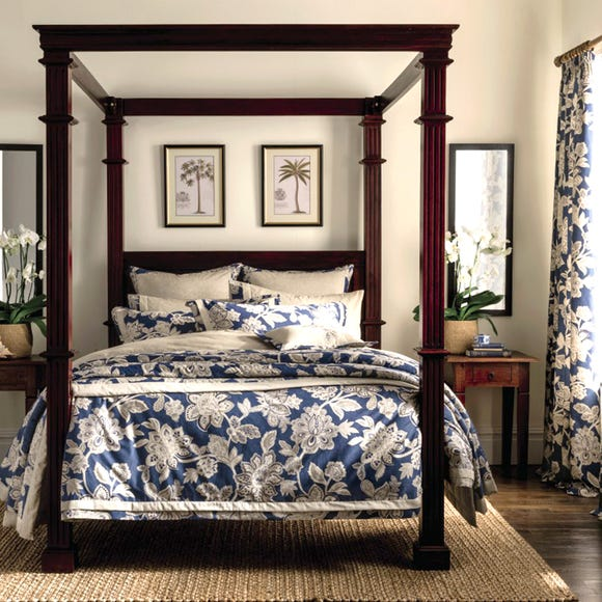 Dorma Samira Blue 100% Cotton Duvet Cover  undefined