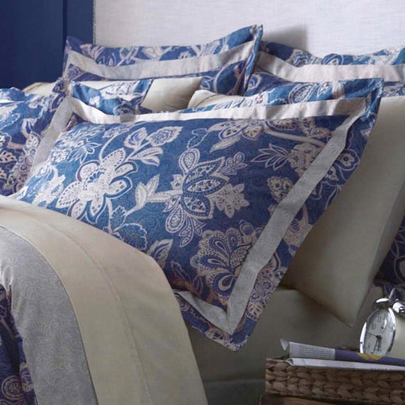 Dorma Samira Blue Oxford Pillowcase Blue