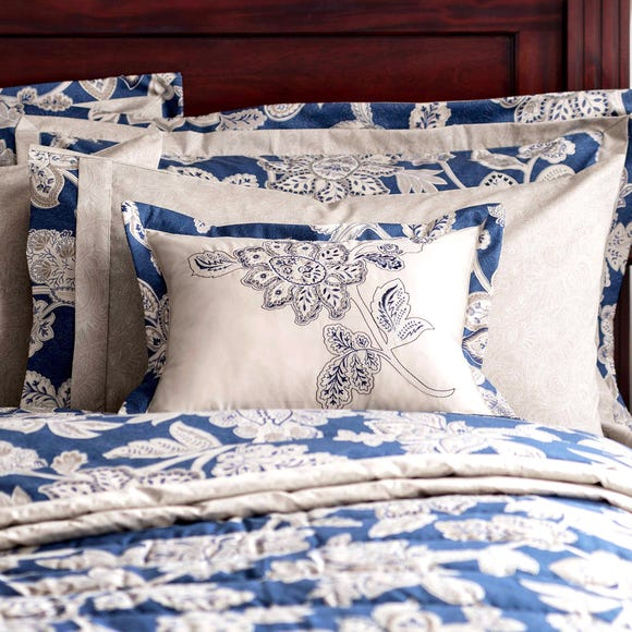 Dorma Samira Blue Boudoir Cushion Blue