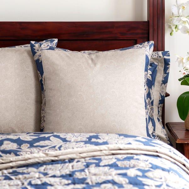 Dorma Samira Blue Continental Square Pillowcase Blue