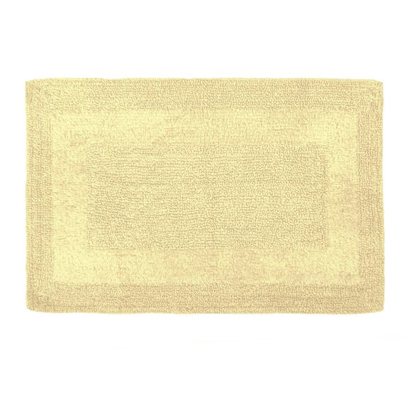 Super Soft Reversible Lemon Bath Mat Lemon (Yellow)