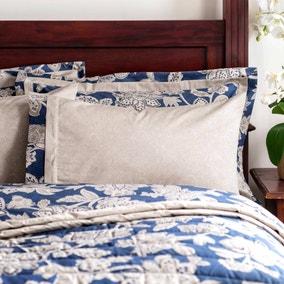 Dorma Samira Blue Cuffed Pillowcase