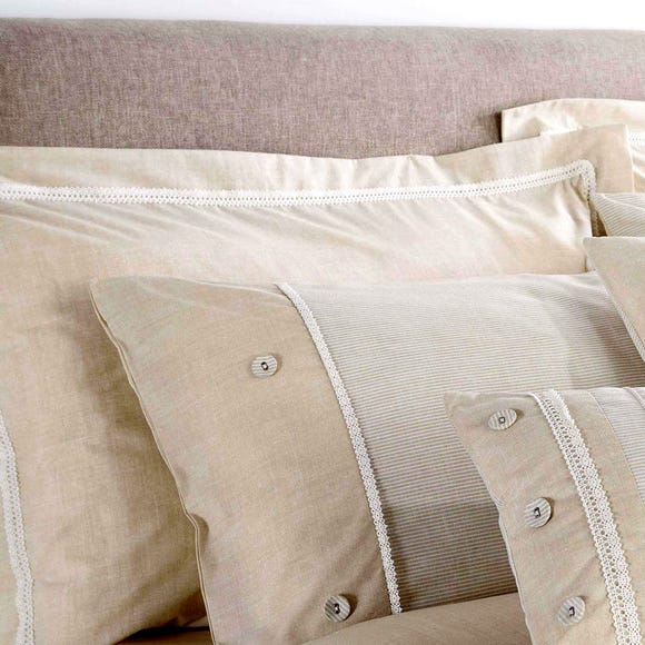 Millie Natural Oxford Pillowcase Natural