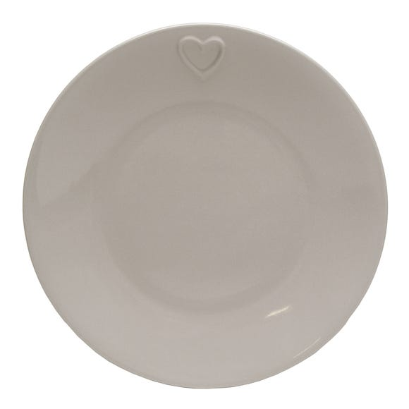 Country Taupe Heart Dinner Plate Taupe (Brown)