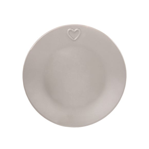 Country Taupe Heart Side Plate Taupe (Brown)
