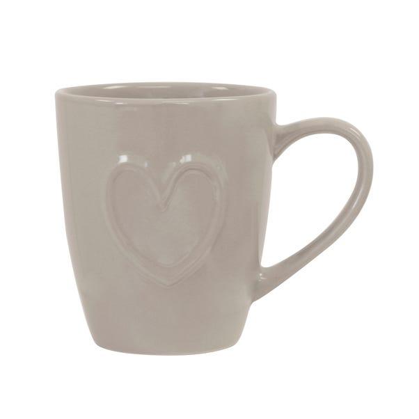 Country Taupe Heart Mug Taupe (Brown)