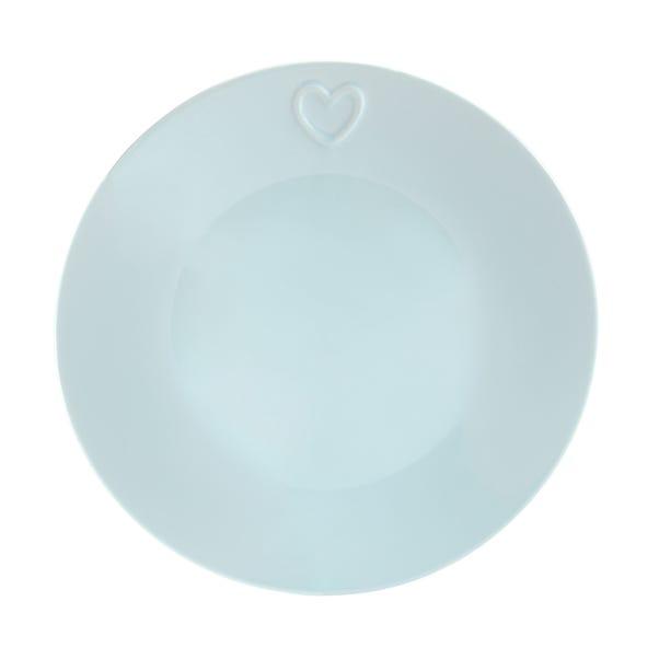 Country Heart Duck-Egg Dinner Plate Duck Egg (Blue)