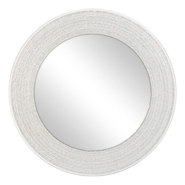 Sparkle Round Mirror Silver