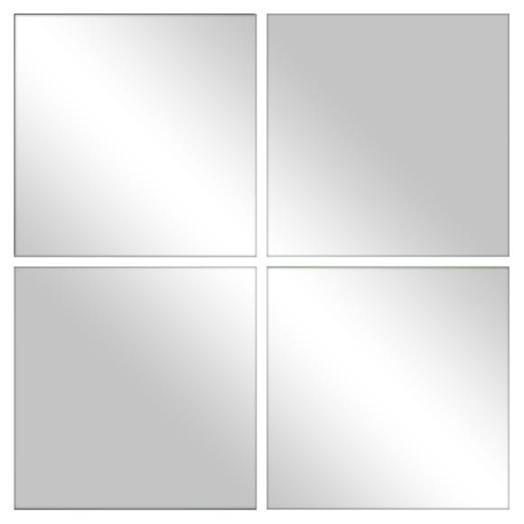 Pack of 4 Mirrored Tiles Clear