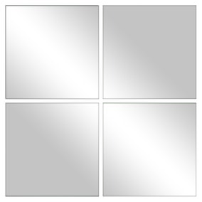 Pack of 4 Mirrored Tiles