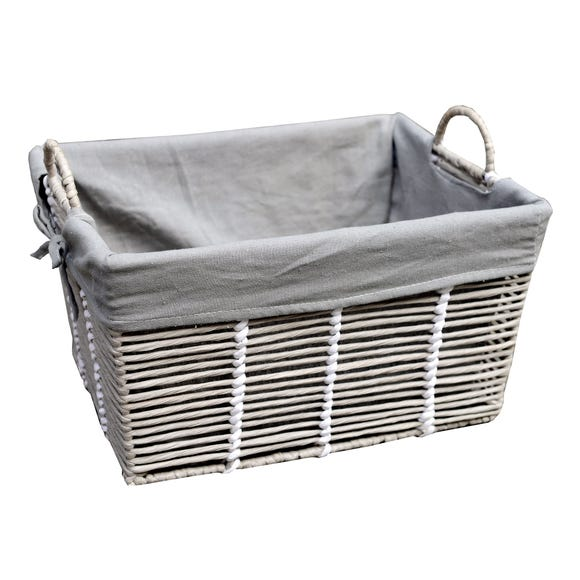 Purity Grey Basket with Handles Grey