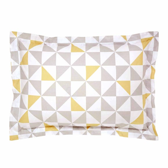 Elements Skandi Geometric Yellow Oxford Pillowcase Yellow