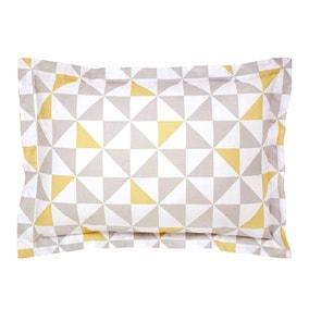 Elements Skandi Geometric Yellow Oxford Pillowcase