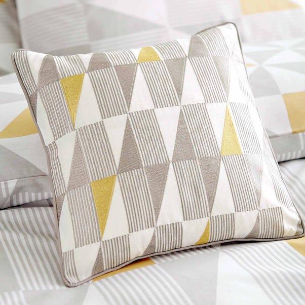 Skandi Geometric Yellow Square Cushion Yellow
