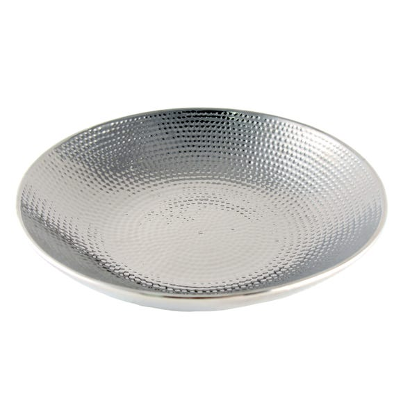 Hammered Effect Silver Plate Silver